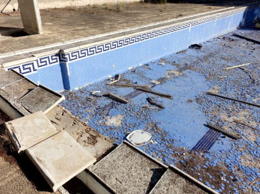 pool demolition south shore